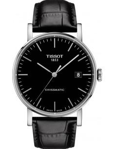 TISSOT Everytime swissmatic black leather strap