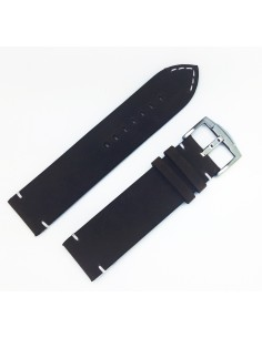 ZRC CHEROKEE 22mm Vintage Black leather strap