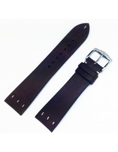 ZRC SAINT LOUIS 20MM VINTAGE BROWN LEATHER STRAP