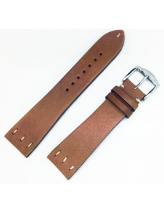 ZRC SAINT LOUIS 22MM VINTAGE HONEY LEATHER STRAP