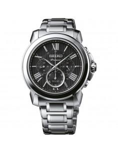 Seiko Premier Solar Chronograph Silver Stainless Steel Bracelet