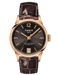 Tissot Chemin des Tourelles Brown Leather Strap