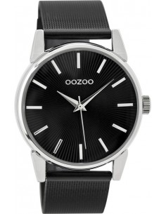 OOZOO Timepieces Black Metallic Mesh Bracelet