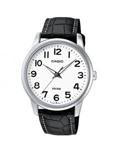 CASIO Collection Black Leather Strap