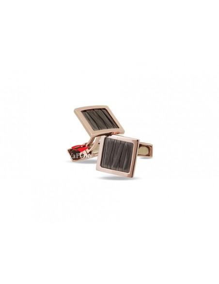 Val'Oro 14K Rose and Black Gold Cufflinks