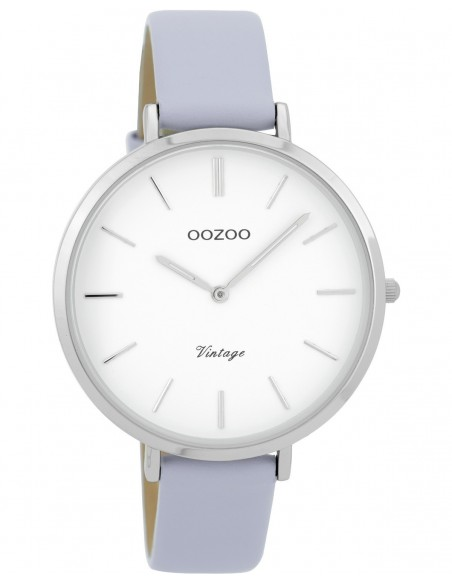 Ρολόι OOZOO Vintage Με Μωβ Δερμάτινο Λουράκι