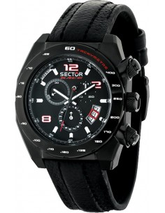 SECTOR Race Black Rubber Strap