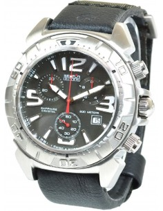 SECTOR Black Leather Strap