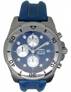 SECTOR Blue Leather Strap