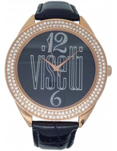 VISSETTI Black Leather Strap