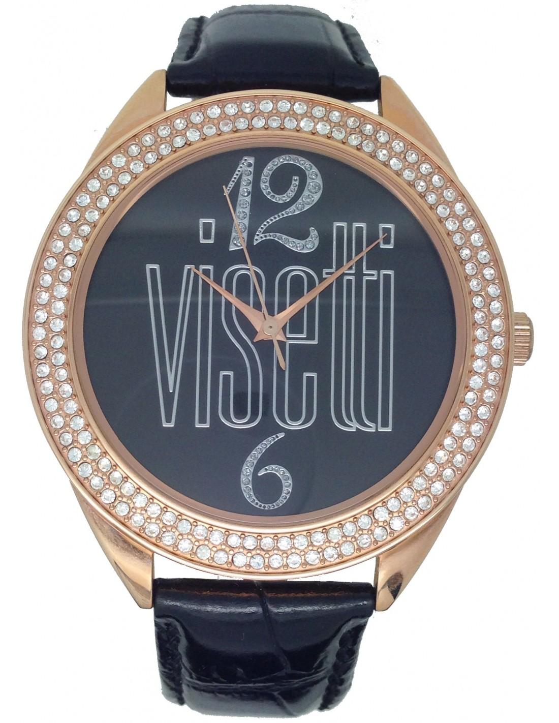VISSETTI Black Leather Strap - N   M Vitopoulos 344f33231dd