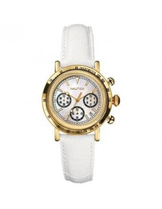 NAUTICA Gold plated Leather Strap