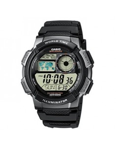 CASIO Collection Black Leather Strap digital