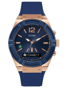 GUESS Connect Smartwatch Blue Rubber STrap