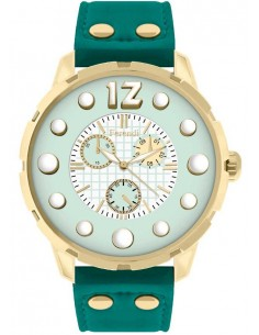 FERENDI Inspiration Gold Green Leather Strap