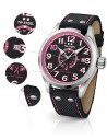 TW Steel Pink Ribbon Special Edition Black Textile Strap