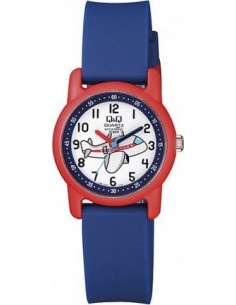 Q&Q Kid's Blue Rubber Strap