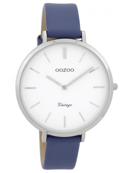 Ρολόι OOZOO Vintage Με Μπλε Δερμάτινο Λουράκι