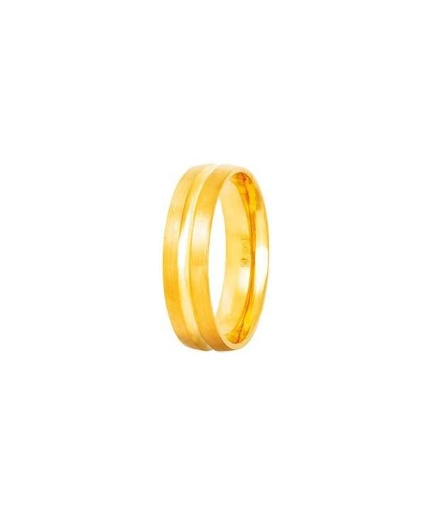 """Βέρες STERGIADIS """"S"""" Xρυσές Κίτρινο Χρυσό 5mm"""