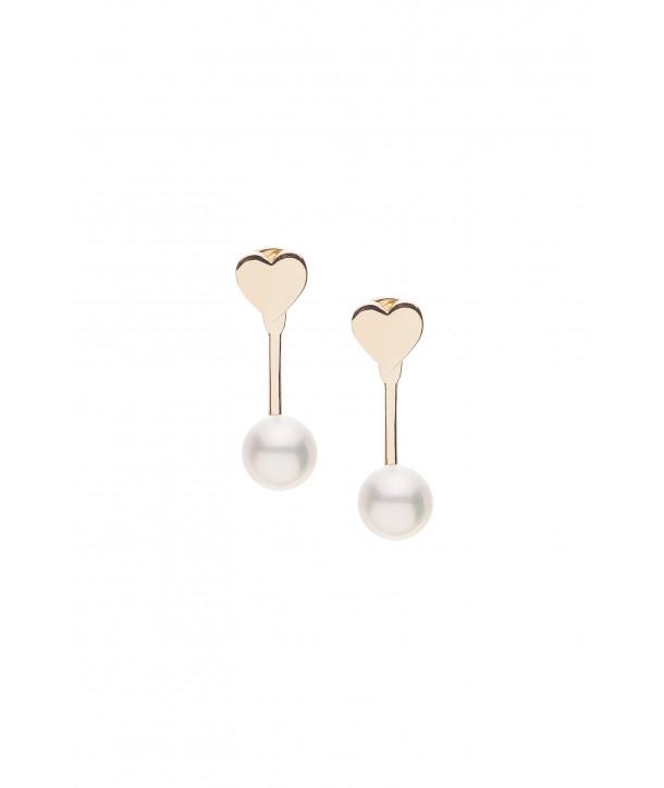 Σκουλαρίκια VITOPOULOS Χρυσό Κ14 Με Πέρλες ESS0047