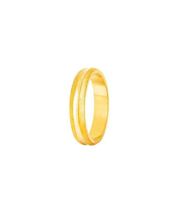 """Βέρες STERGIADIS """"S"""" Xρυσές Κίτρινο Χρυσό 4mm"""