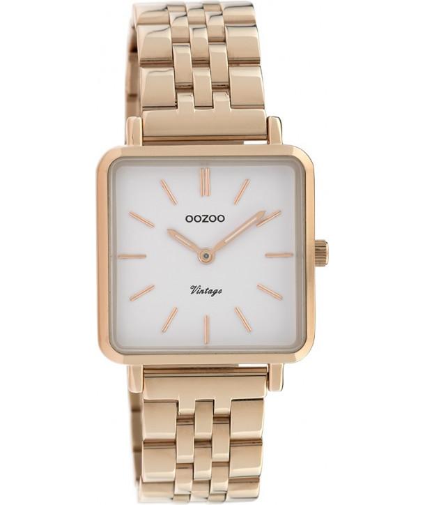 Ρολόι OOZOO Vintage Με Ροζ Χρυσό Ατσάλινο Μπρασελέ C9958