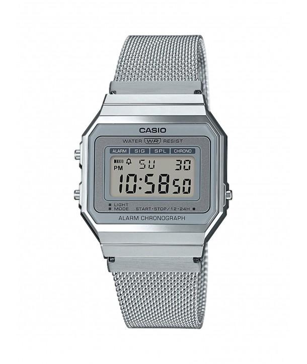 Ρολόι CASIO Standard Με Ασημί Ατσάλινο Mesh Μπρασελέ A-700WEM-7AEF