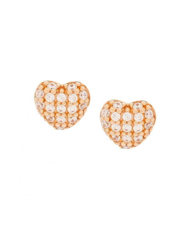 Σκουλαρίκια VITOPOULOS Ροζ Χρυσά 14K Με Ζιργκόν Πέτρες ESS0118
