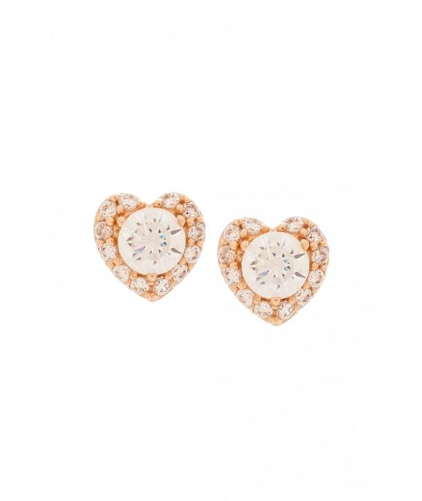 Σκουλαρίκια VITOPOULOS Ροζ Χρυσά 14K Με Ζιργκόν Πέτρες ESS0111