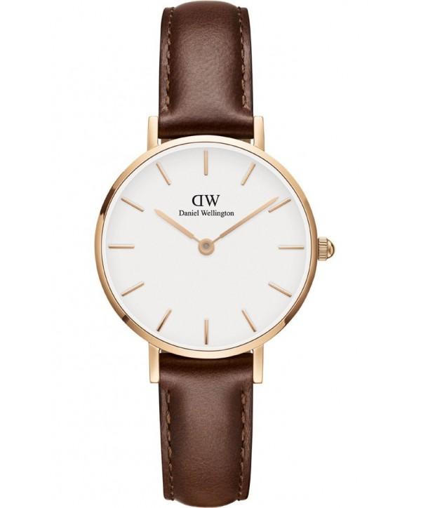 Ρολόι DANIEL WELLINGTON Classic Petite St Mawes Με Καφέ Δερμάτινο Λουράκι DW00100231