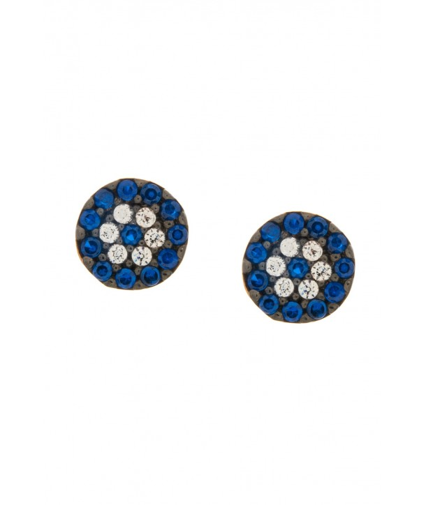 Σκουλαρίκια VITOPOULOS Ροζ Χρυσό Κ14 Με Πέτρες ESS0175