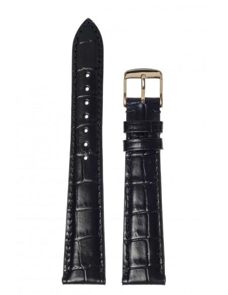 Λουράκι ROCHET Μαύρο Δερμάτινο 18mm 5491801KO