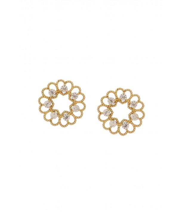 Σκουλαρίκια VITOPOULOS Χρυσά 14K Με Πέτρες ESS0208