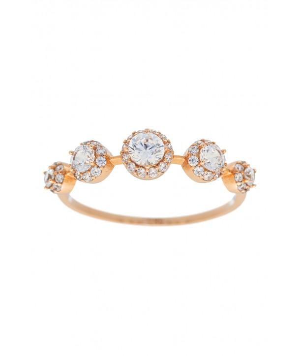 Δαχτυλίδι VITOPOULOS Ροζ Χρυσό 14K Με Πέτρες ESD0173