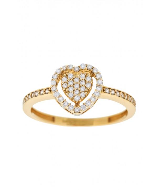 Δαχτυλίδι VITOPOULOS Χρυσό 14K Με Πέτρες ESD0160
