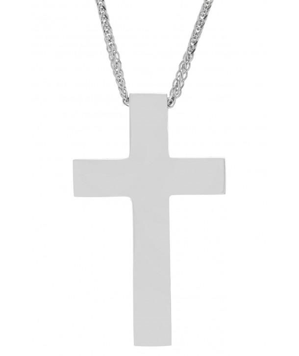 Ανδρικός Σταυρός VAL'ORO Λευκόχρυσο Κ14 ESST420