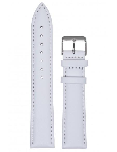 Λουράκι TZEVELION Λευκό Δερμάτινο 22mm 660.2.22