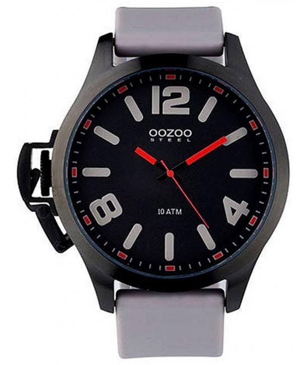 Ρολόι OOZOO Steel Με Γκρι Καουτσούκ Λουράκι OS362