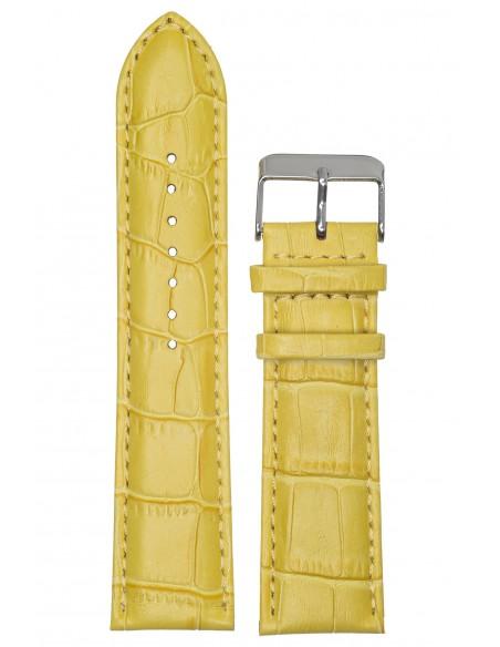 Λουράκι TZEVELION Κίτρινο Κροκό Δερμάτινο 24mm 521.12.24