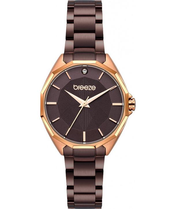 Ρολόι BREEZE Hermosa Με Καφέ Ατσάλινο Μπρασελέ 812151.6