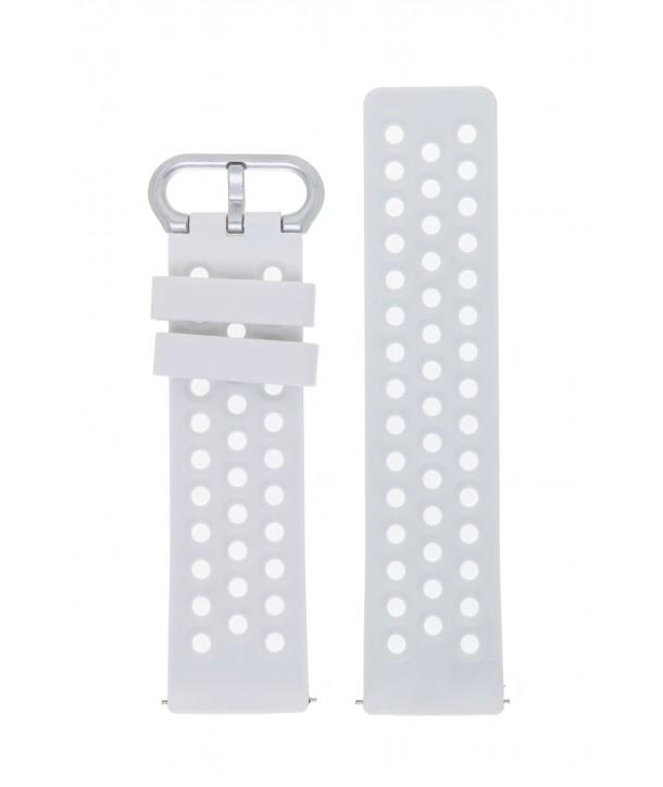 Λουράκι Λευκό Σιλικόνης 22mm για Ρολόι FITBIT VERSA 2
