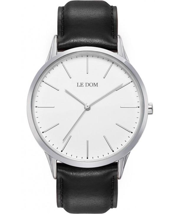 Ρολόι LE DOM Classic Με Μαύρο Δερμάτινο Λουράκι