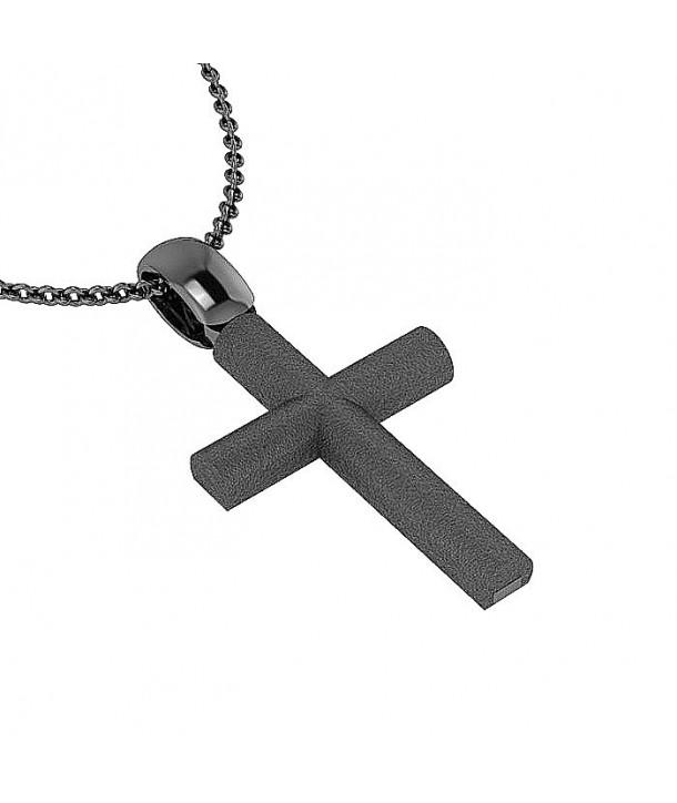 Σταυρός CHARMING PENDANTS Μαύρο Ασήμι 925