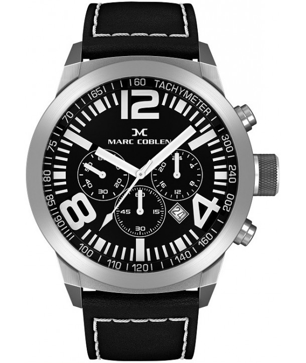 MARC COBLEN Black Leather Strap