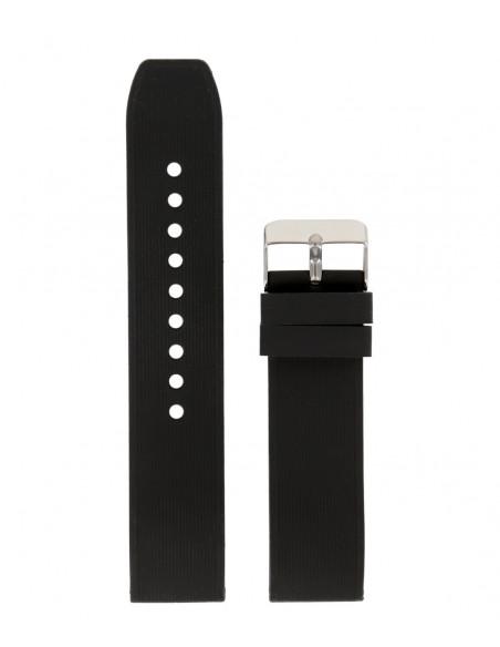 Λουράκι TZEVELION Μαύρο Σιλικόνης 22mm