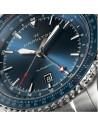 Ρολόι HAMILTON Khaki Aviation Converter Auto GMT Με Ασημί Ατσάλινο Μπρασελέ H76715140