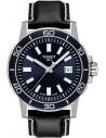 Ρολόι TISSOT Supersport Gent Με Μαύρο Δερμάτινο Λουράκι