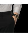 Ρολόι TISSOT Gentleman Powermatic 80 Silicium Mε Μαύρο Δερμάτινο Λουράκι