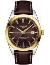 Ρολόι TISSOT Gentleman Powermatic 80 Silicium Mε Καφέ Δερμάτινο Λουράκι T927.407.46.291.01