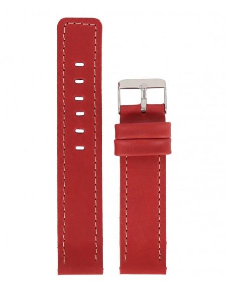 Λουράκι VSTRAPS Κόκκινο Δερμάτινο 22mm
